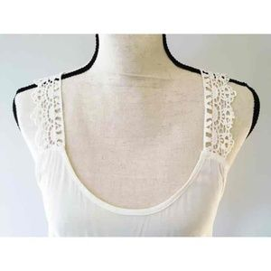 NWT F21 strappy lace tank